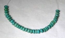 32 Gorgeous 5mm Natural TURQUOISE Rondelle Beads