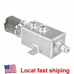 Aluminum 1L Oil Catch Can Reservoir Tank + Breather Filter Baffled 10AN Fitting