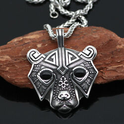 High Quality Norse Viking Bear Stainless Steel Pendant Necklace Gifts Jewelry