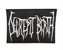 DECREPIT BIRTH ( White logo )  EMBROIDERED  PATCH