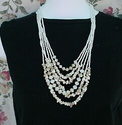 3 FUN Fashion Costume Jewelry SHELL NECKLACE Lot READY TO WEAR various lengths