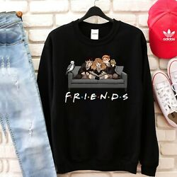 Friends Harry Potter Hermione Harry Ron Happy Halloween Black Sweatshirt
