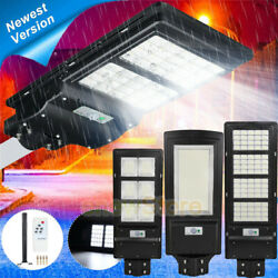 990000LM Commercial Solar Street Light LED IP67 PIR Sensor SpotlightPoleRemote