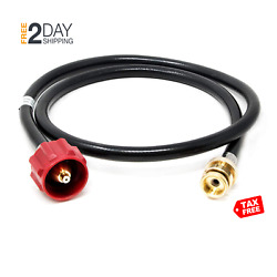 Gas One Outdoor Premium Red Propane Tank Adapter Hose Cooking Replacement Parts