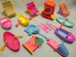 Littlest Pet Shop Random Lot 4 Beach Accessories Boats Jet Ski Sail Boat Ship