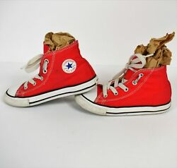 Converse All Star Toddlers10 Red Hi Top Sneakers Preowned in Great Condition $14.99
