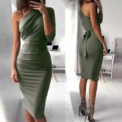 Bigsweety New Sexy One Shoulder Bodycon Party Dresses  $17.99