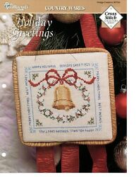 Cross Stitch Pattern Holiday Greetings Country Wares The Needlecraft Shop $0.99