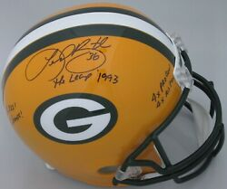 Packers LEROY BUTLER Signed Full Size Replica Helmet AUTO w 4 INS SB XXXI Champ
