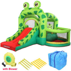Slide Inflatable Bounce House Castle Kids Jumper Bouncer Outdoor with Air Blower $197.59
