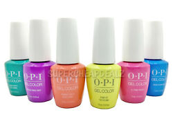 OPI GelColor Soak Off Gel Polish Base Top NEON COLLECTION 15ml 0.5oz AUTHENTIC $16.90