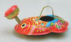 Vintage Lithographed Tin Fish  Watering Can  -- Japan - New Old Stock