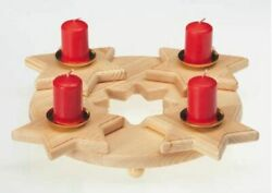 Advent wreath Advent candle holder made of wood quot;Starquot; Advent Christmas $35.00