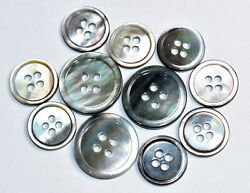 Blazer & Suit Button Set - Mother of Pearl (11 Piece Set Smoke Grey Color)