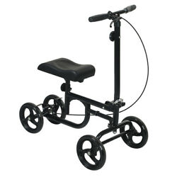 NEW All-Road Knee Walker Steerable Madical Scooter Crutch Alternative wBrake US