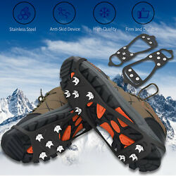 Ice Snow Crampons Cleats Anti slip Shoes Spike Grips Boot Traction Grippers Hike $10.59