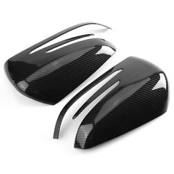 Carbon Fiber Side Mirror Cover Caps For Mercedes X204 W212 W176 W246 W204 C117 $32.78