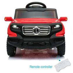 Safety Kids Ride on Car Toys Electric Power 4 Wheel MP3 Light Remote Control Red $109.59