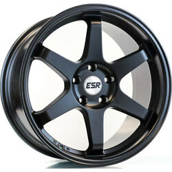 4 - 18x8.5 Black Wheel ESR SR07 5x4.5 30