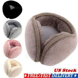 Ear Muffs Winter Ear Warmers Fleece Ear Warmer Men's Womens Behind the Head Band