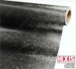 New RELEASE ROLL Hexis Black Forged Carbon Fiber Vinyl Car Wrap 60x27  3y
