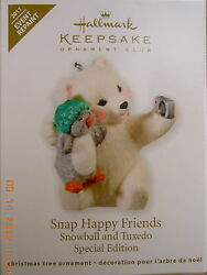 Hallmark 2011 SNAP HAPPY FRIENDS Snowball & Tuxedo RARE KOC Event Repaint