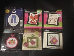 Counted Cross Stitch Mini Kit with Frames Assorted Styles $1.50