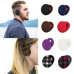 1 Pair Adult Women Men Winter Earbags Bandless Ear Warmers Earmuffs Ear Cover