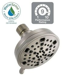 NEW Delta H2Okinetic 5-Spray Shower Head Brushed Nickel Massage WaterSense Clean