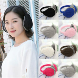 Unisex Winter Warm Knitted Earmuffs Ear Warmers Muffs Women Men Earlap Cover NEW