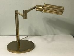 Vintage MCM KOCH & LOWY BRASS ARTICULATING EXTENDING DESK LAMP Free Shipping