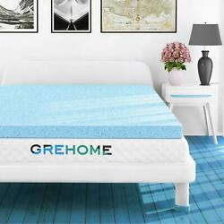 Mattress Topper For Twin Gel-Infused Memory Foam Ventilated Design 2''3'' Inch