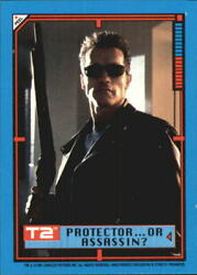 1991 Terminator II Judgment Day Stickers #15 Protector or Assassin