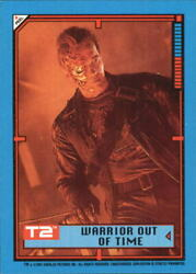 1991 Terminator II Judgment Day Stickers #30 Warrior Out of Time