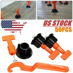 50X Tile Leveling System Kit Flat Ceramic Floor Wall Construction Tools Reusable
