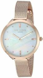 Ted Baker Elena Mother of Pearl Dial Rose Gold Mesh Women#x27;s Watch TE15198023 SD $64.95