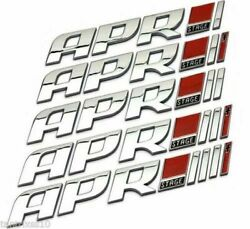 NEW APR Decal Styling sticker STAGE 1 2 3 abs badge REAL TUNERS GOAPR fit audi $12.49