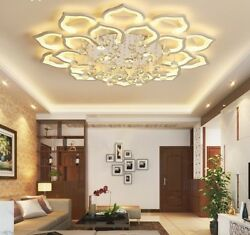Dimmable Acrylic Modern Chandeliers Modern Flush Mounted Lighting Remote New $360.36