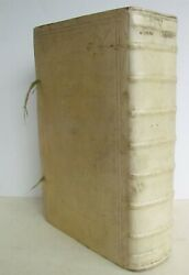 1683 MASSIVE VELLUM BOUND FOLIO SUMMA CHRISTIANA SEU ORTHODOXA MORUM DISCIPLINA $499.99
