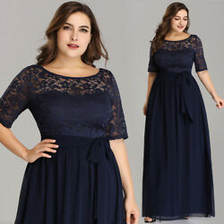 US Ever-Pretty Plus Size Lace Long Evening Dress Mother Of Bride Party Gown 7624 $36.99