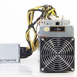 AntMiner L3+ 504MHs  1.6WMH ASIC Litecoin Miner With Power Supply Included $1,195.00