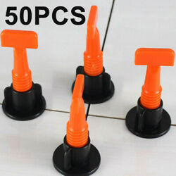 50x Reusable Flat Ceramic Floor Wall Construction Tool Tile Leveling System New
