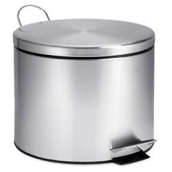 Stainless Steel Step Lift Lid Garbage Can 5 Liter W Step Foot Pedal Outdoor Bin $29.99