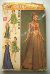 60#x27;s Designer cocktail evening gown dress pattern 8497 size 12