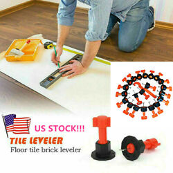50xReusable Tile Leveling System Flat Ceramic Floor Wall Construction Tools Kit