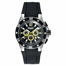 Ingersoll 3221BK Men#x27;s Brazos Auto Limited Edition Black Rubber White Dial Watch $104.70
