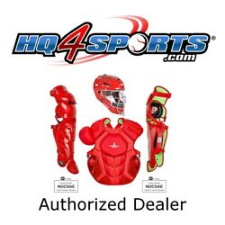 All-Star System 7 Axis Solid CKCC912S7XS Youth Catchers Gear Set - Scarlet $349.95
