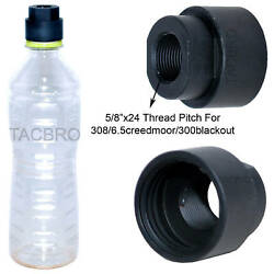 Black 308 Soda Pop Bottle 5 8x24 TPI Cleaning Patch Trap Muzzle Adapter .308 $14.99