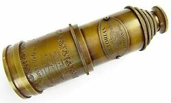 Antique Brass Telescope Victorian 1915 Marine Nautical Telescope 20 Inch Gift $35.99