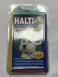 Halti Dog Head Collar Size 1 Black Safety Strap Included $13.99